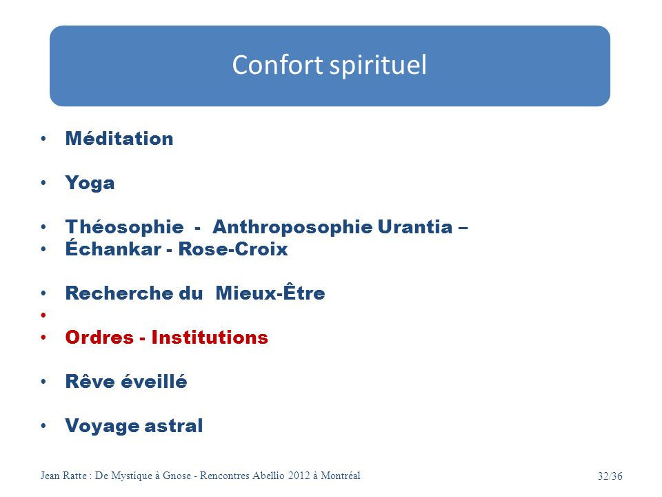 Confort spirituel Méditation Yoga