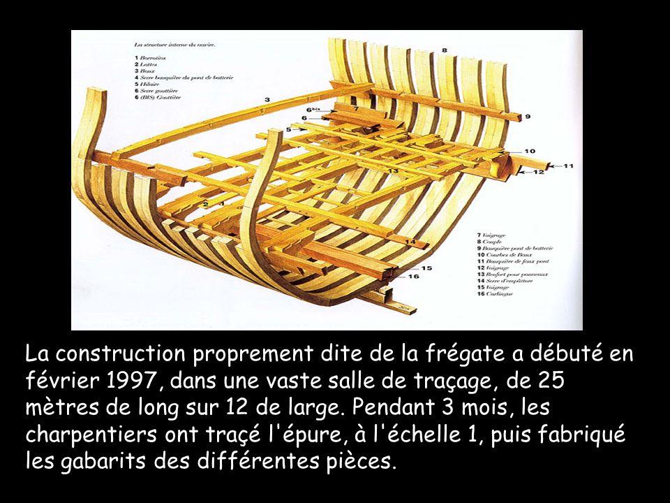 La construction proprement dite de la frégate a débuté en février 1997, dans une vaste salle de traçage, de 25 mètres de long sur 12 de large.