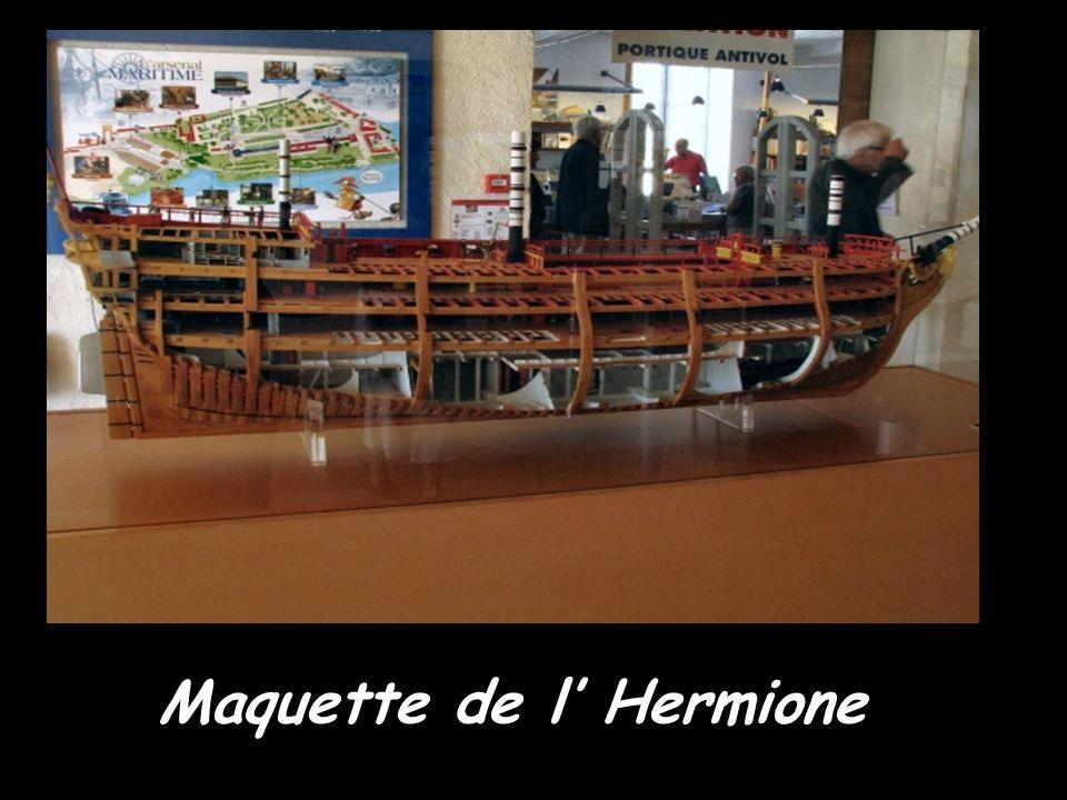 Maquette de l' Hermione