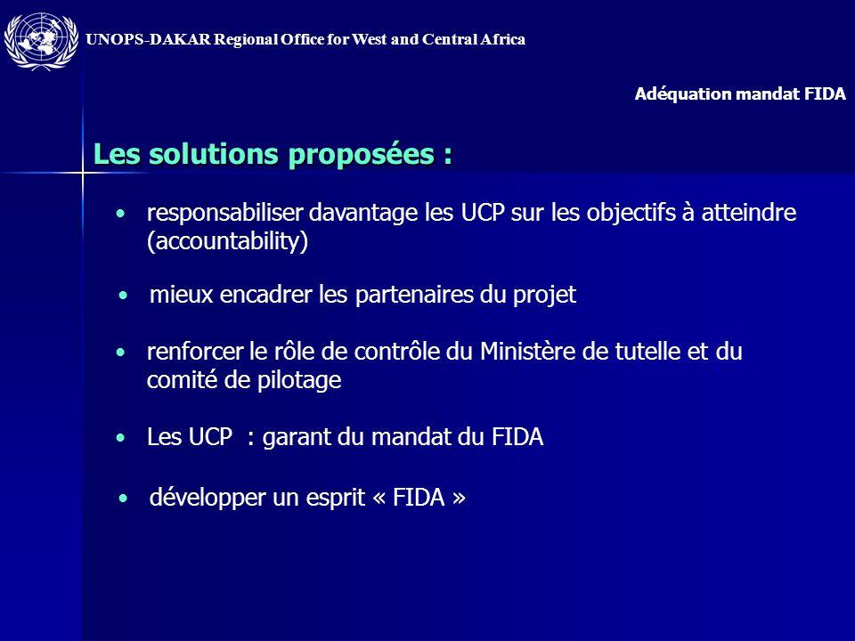 Les solutions proposées :