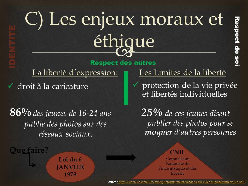 C) Les enjeux moraux et éthique