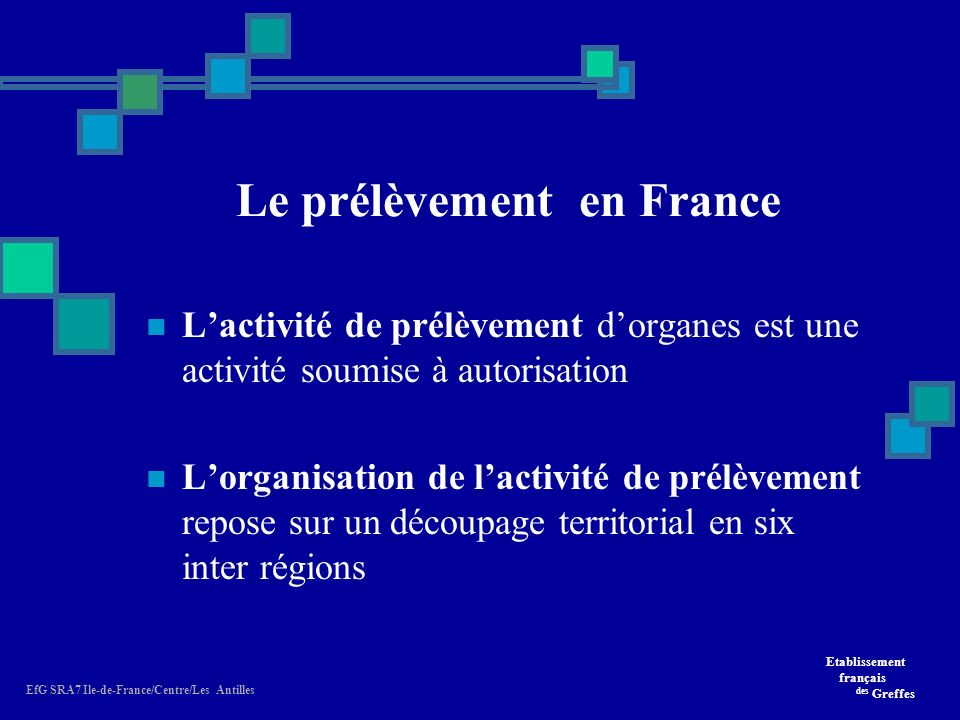 Le prélèvement en France