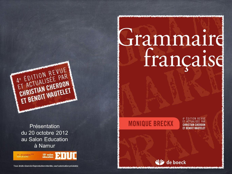 Présentation du 20 octobre 2012 au Salon Education à Namur
