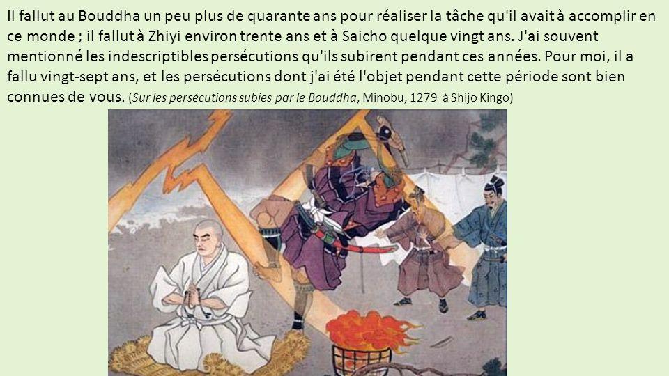 Il fallut au Bouddha un peu plus de quarante ans pour réaliser la tâche qu il avait à accomplir en ce monde ; il fallut à Zhiyi environ trente ans et à Saicho quelque vingt ans.