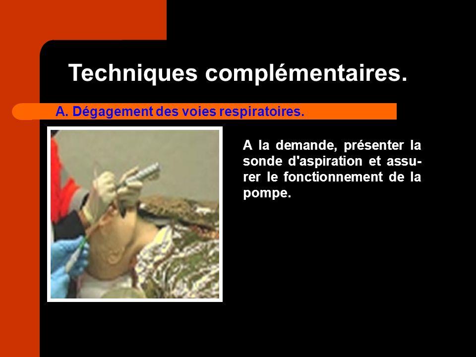 Techniques complémentaires.
