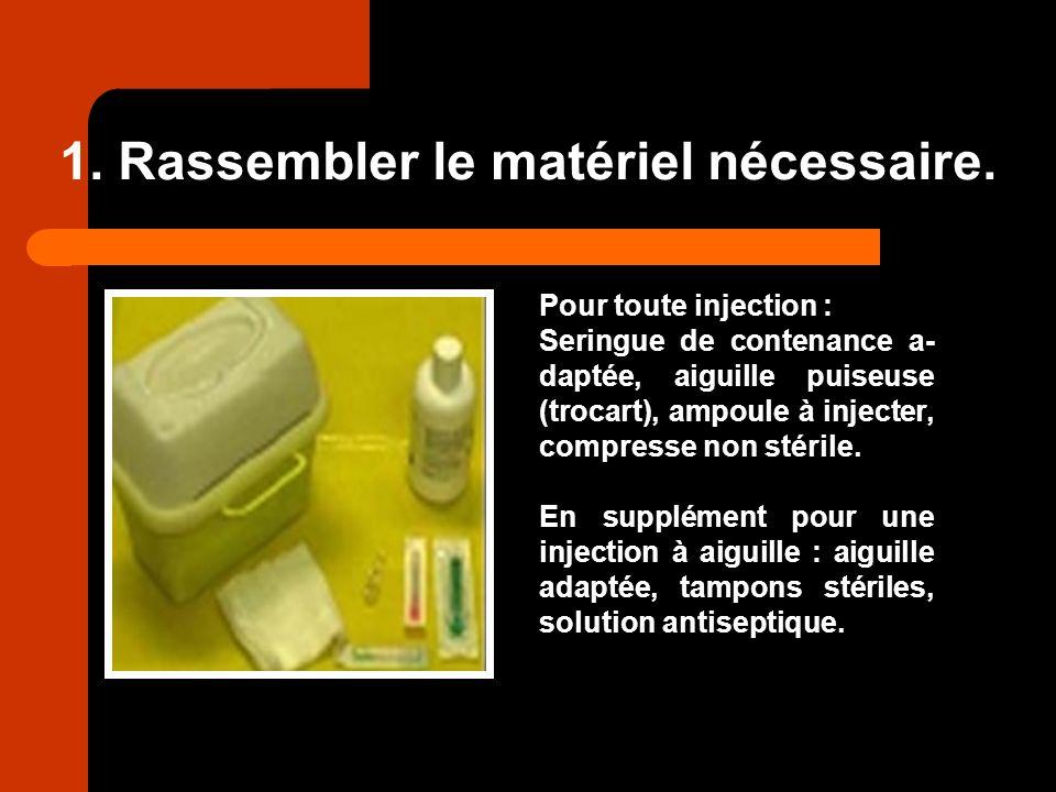 1. Rassembler le matériel nécessaire.