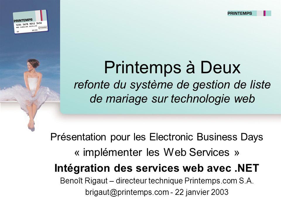 Intégration des services web avec .NET