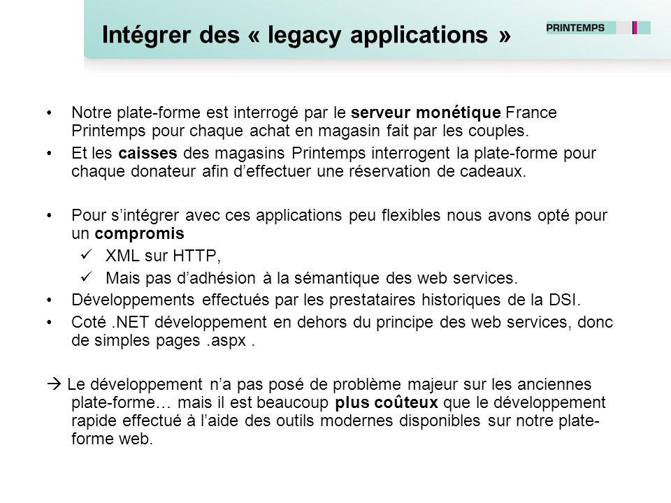 Intégrer des « legacy applications »