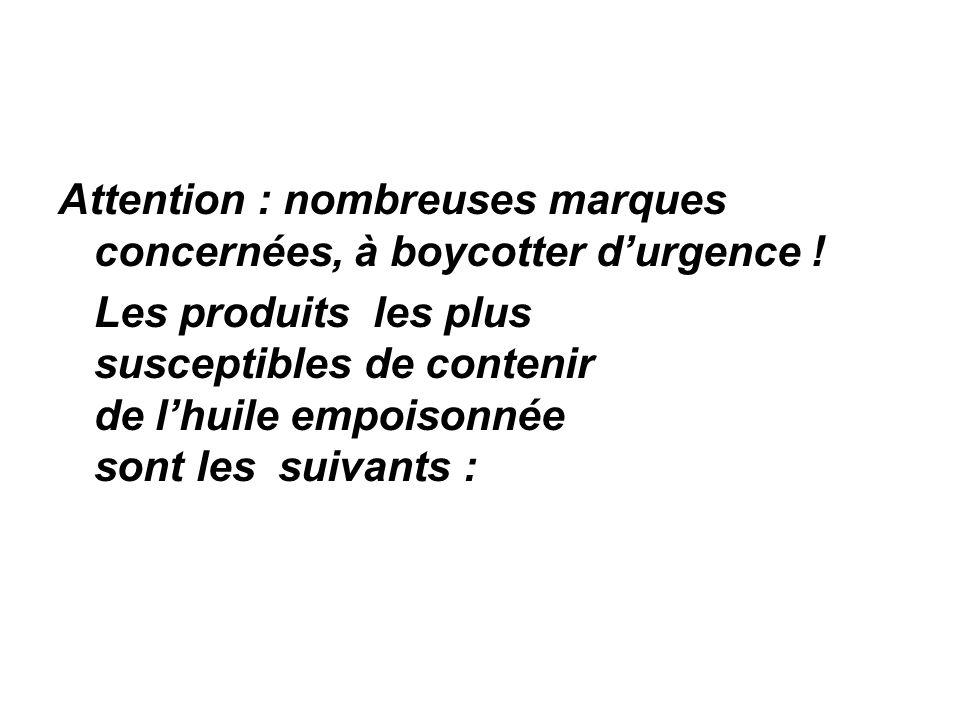 Attention : nombreuses marques concernées, à boycotter d'urgence !