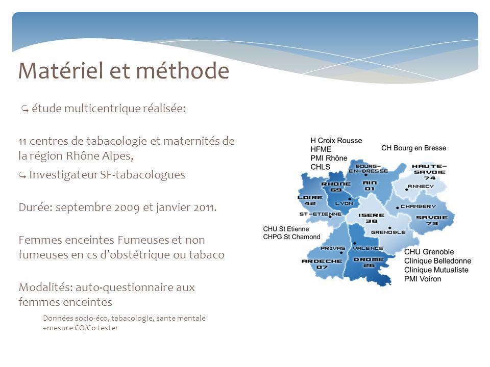 Matériel et méthode  étude multicentrique réalisée: