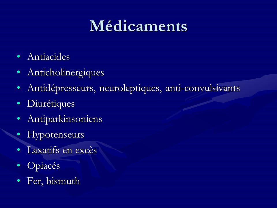 Médicaments Antiacides Anticholinergiques