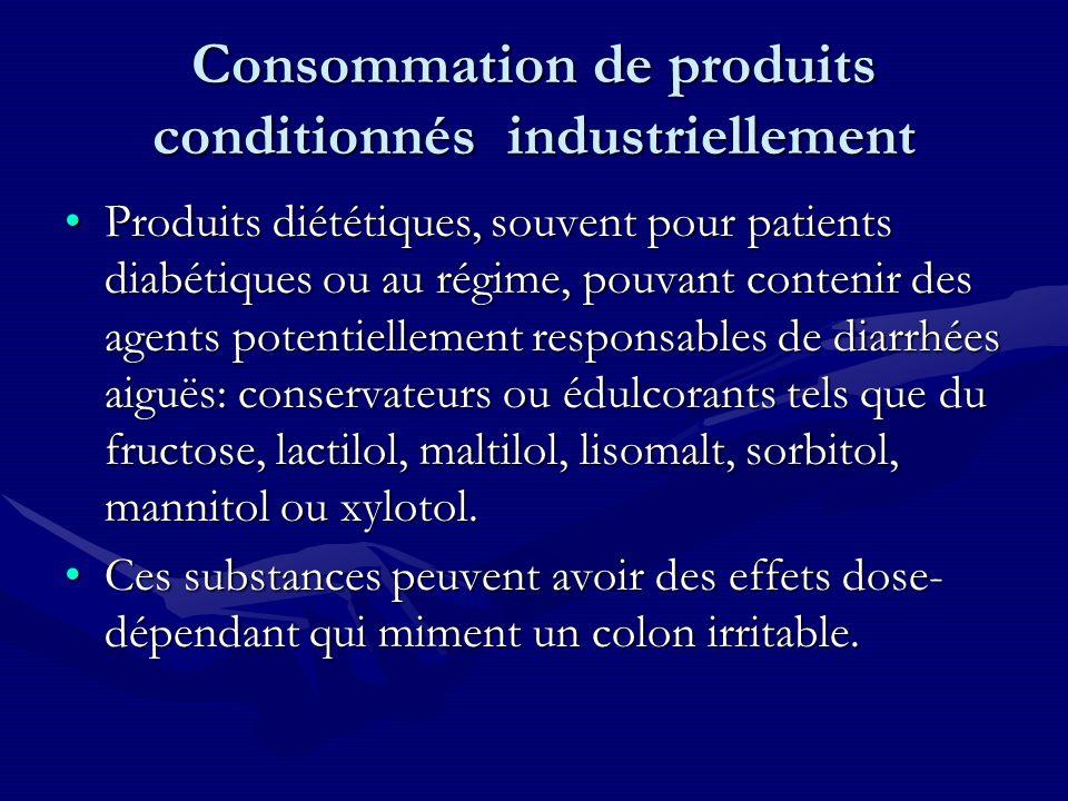 Consommation de produits conditionnés industriellement
