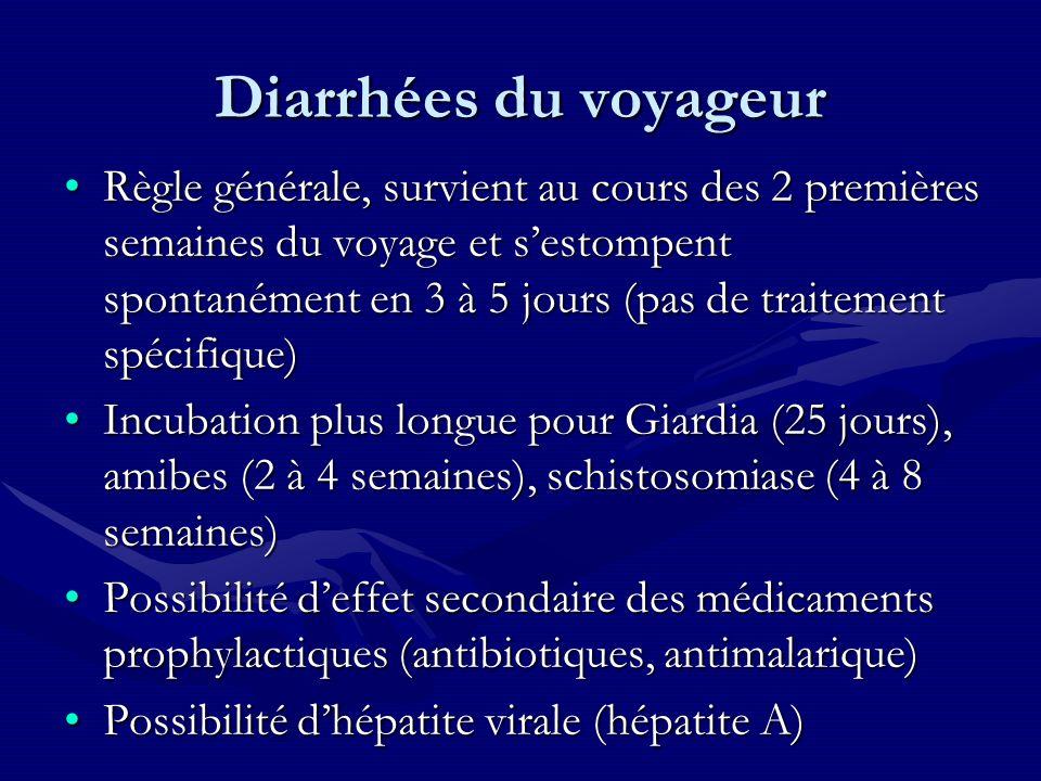 Diarrhées du voyageur