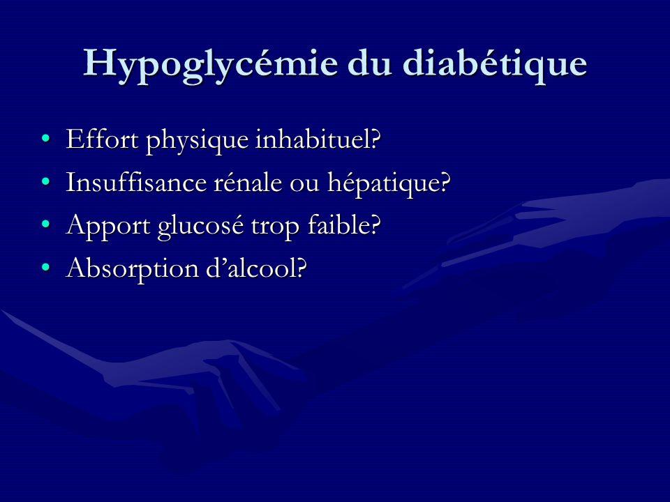 Hypoglycémie du diabétique