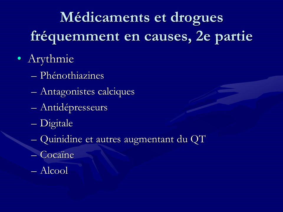 Médicaments et drogues fréquemment en causes, 2e partie