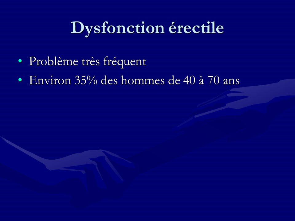 Dysfonction érectile Problème très fréquent