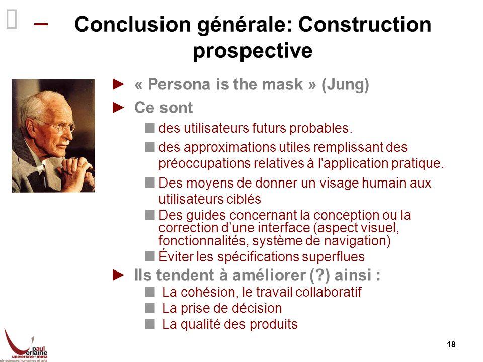 Conclusion générale: Construction prospective