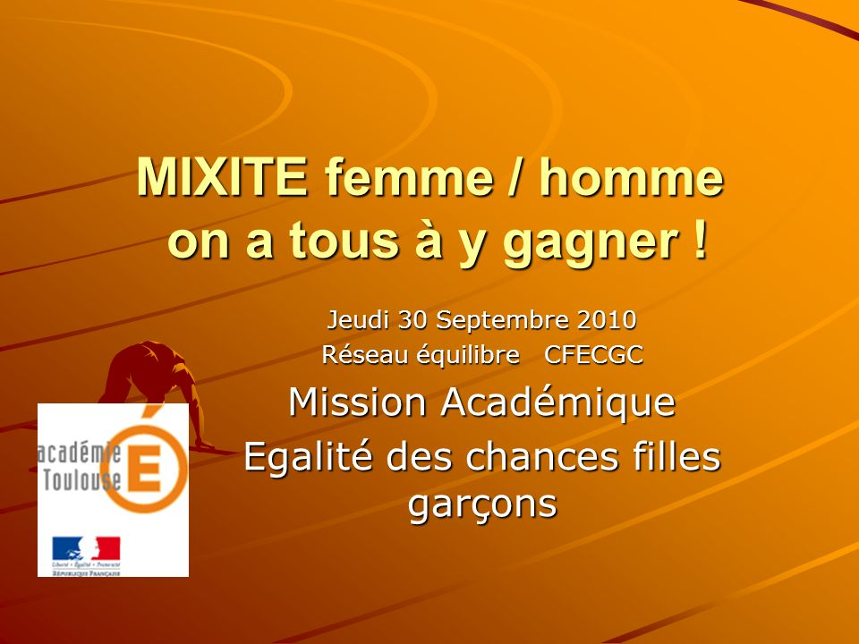 MIXITE femme / homme on a tous à y gagner !
