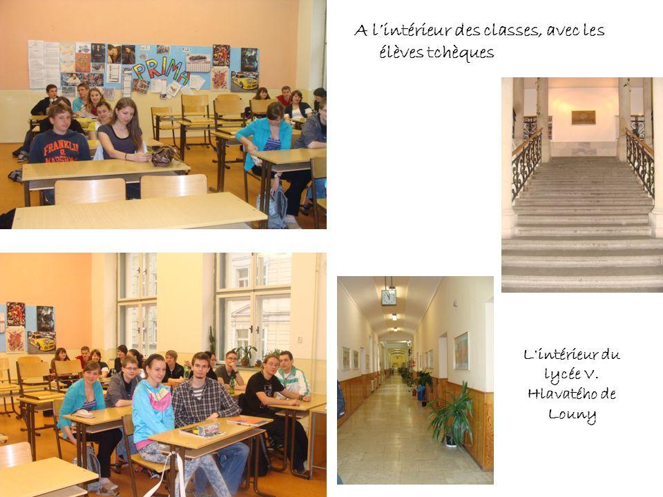 L intérieur du lycée V. Hlavatého de Louny