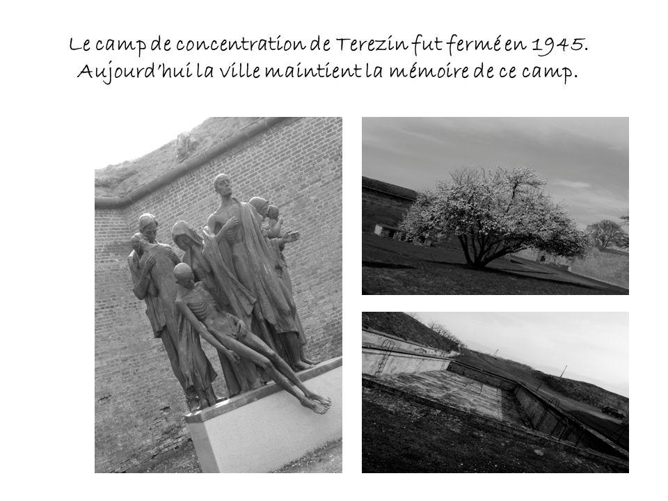 Le camp de concentration de Terezin fut fermé en 1945