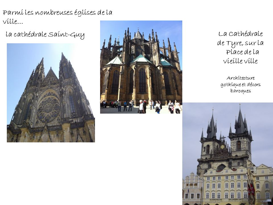Parmi les nombreuses églises de la ville… la cathédrale Saint-Guy