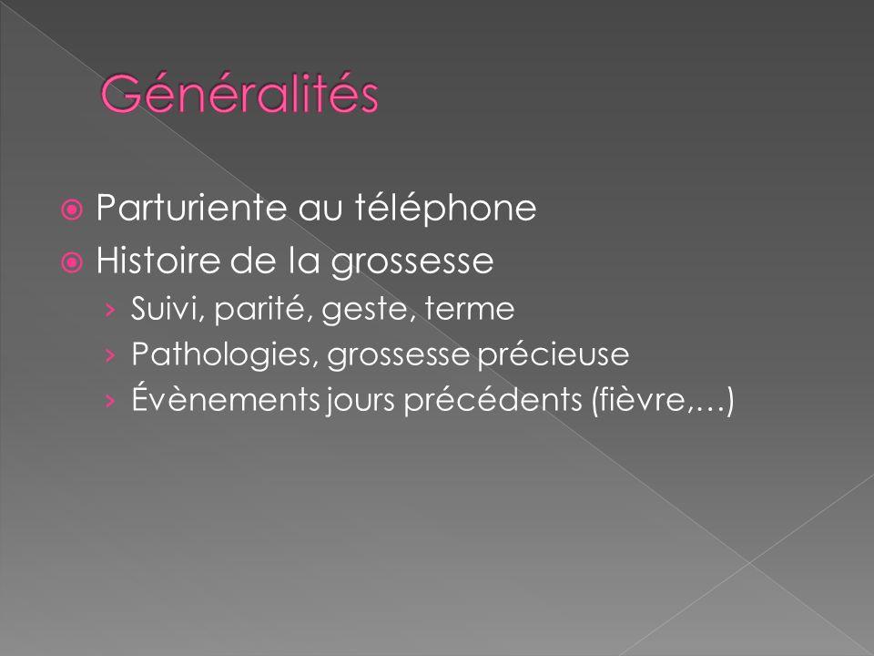 Généralités Parturiente au téléphone Histoire de la grossesse