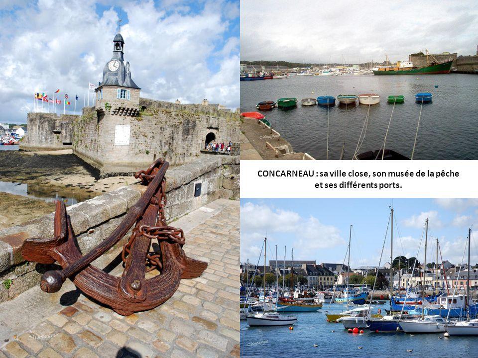 CONCARNEAU : sa ville close, son musée de la pêche et ses différents ports.