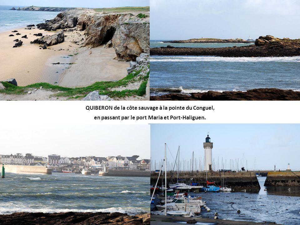 QUIBERON de la côte sauvage à la pointe du Conguel,