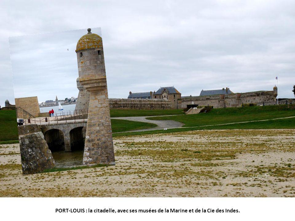 PORT-LOUIS : la citadelle, avec ses musées de la Marine et de la Cie des Indes.