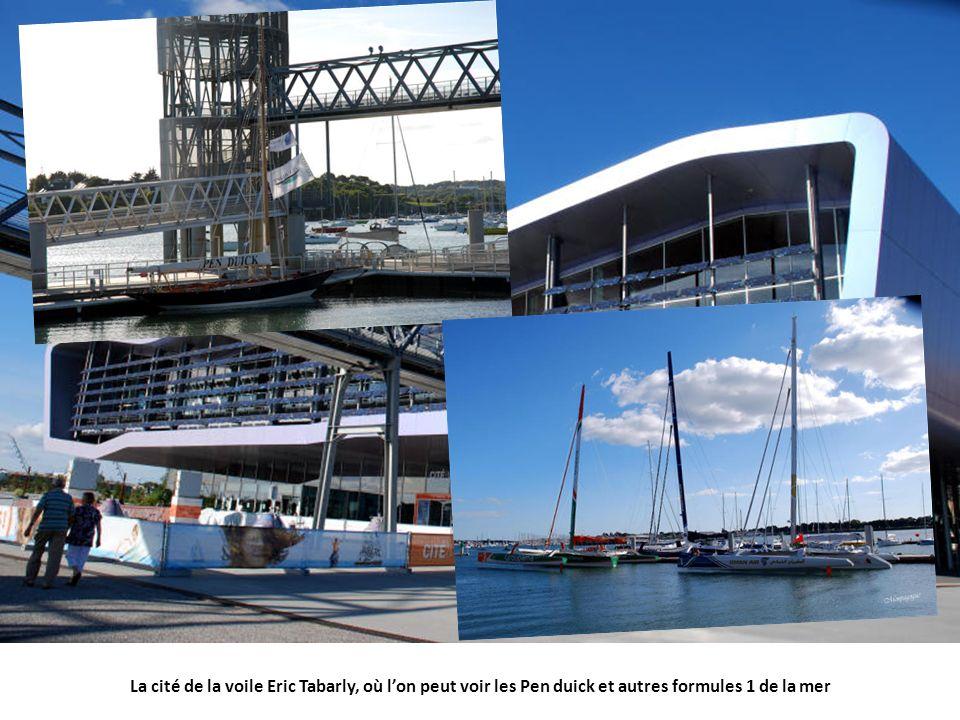La cité de la voile Eric Tabarly, où l'on peut voir les Pen duick et autres formules 1 de la mer