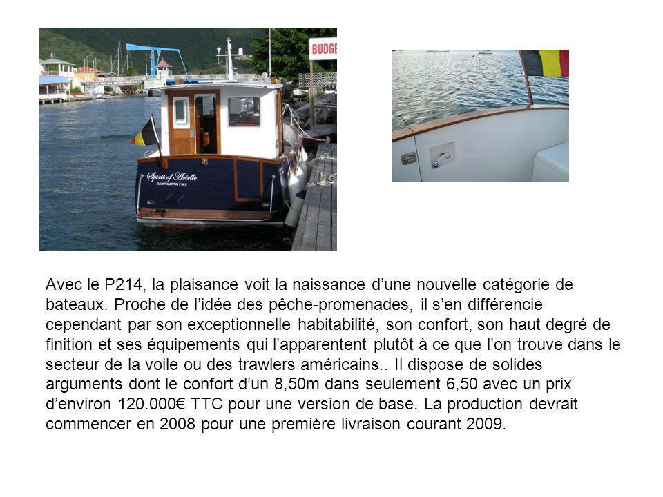 Avec le P214, la plaisance voit la naissance d'une nouvelle catégorie de bateaux.