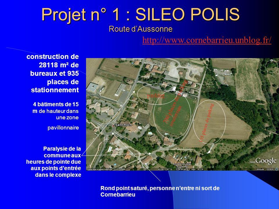 Projet n° 1 : SILEO POLIS Route d'Aussonne