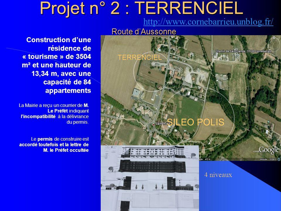 Projet n° 2 : TERRENCIEL Route d'Aussonne