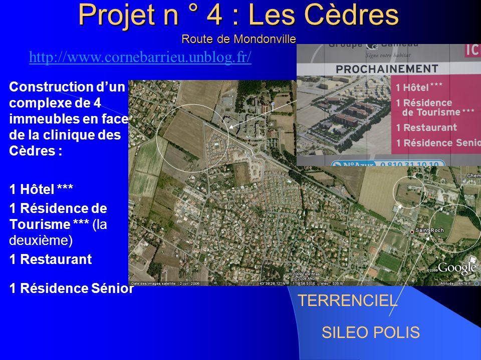 Projet n ° 4 : Les Cèdres Route de Mondonville