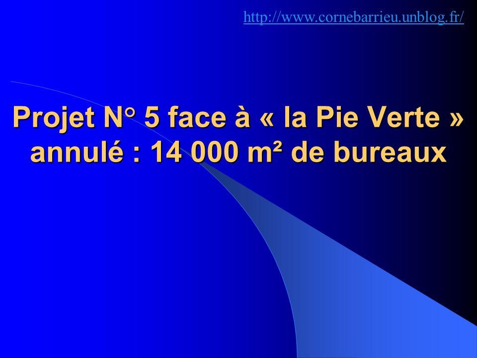 Projet N° 5 face à « la Pie Verte » annulé : 14 000 m² de bureaux