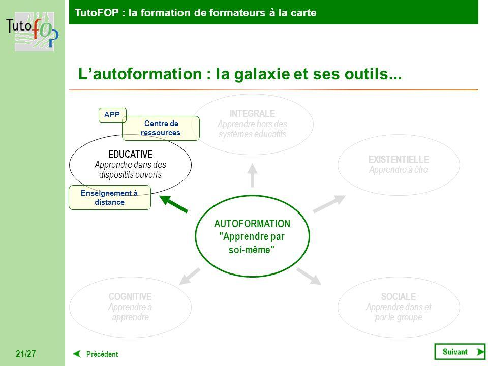 L'autoformation : la galaxie et ses outils...