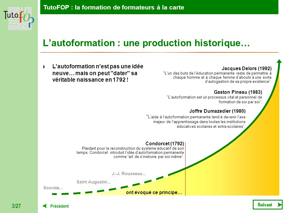 L'autoformation : une production historique…