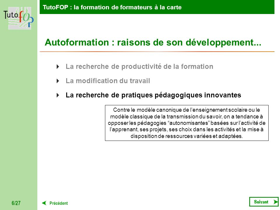 Autoformation : raisons de son développement...