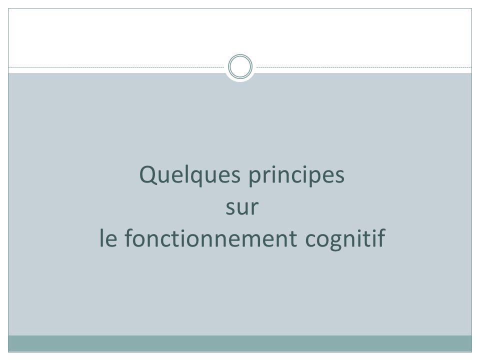 le fonctionnement cognitif