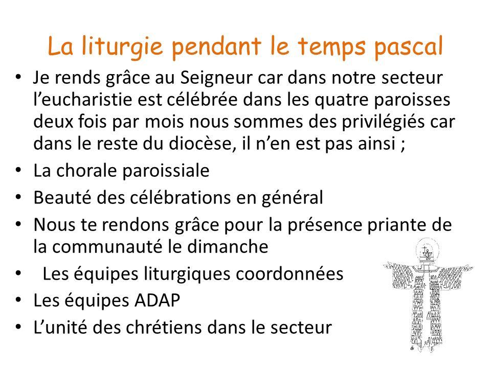 La liturgie pendant le temps pascal