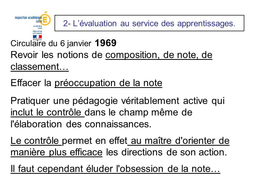 2- L'évaluation au service des apprentissages.