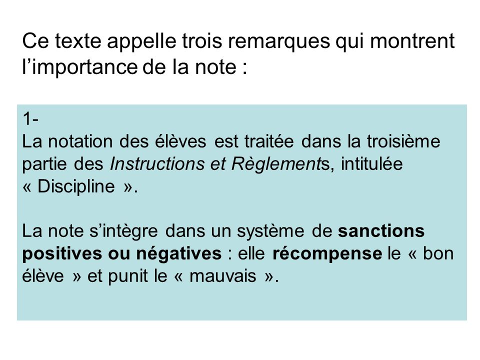 Ce texte appelle trois remarques qui montrent l'importance de la note :