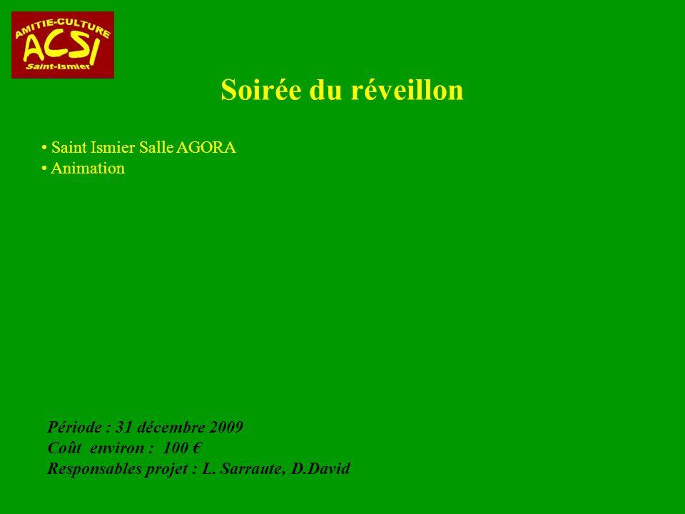 Soirée du réveillon Saint Ismier Salle AGORA Animation