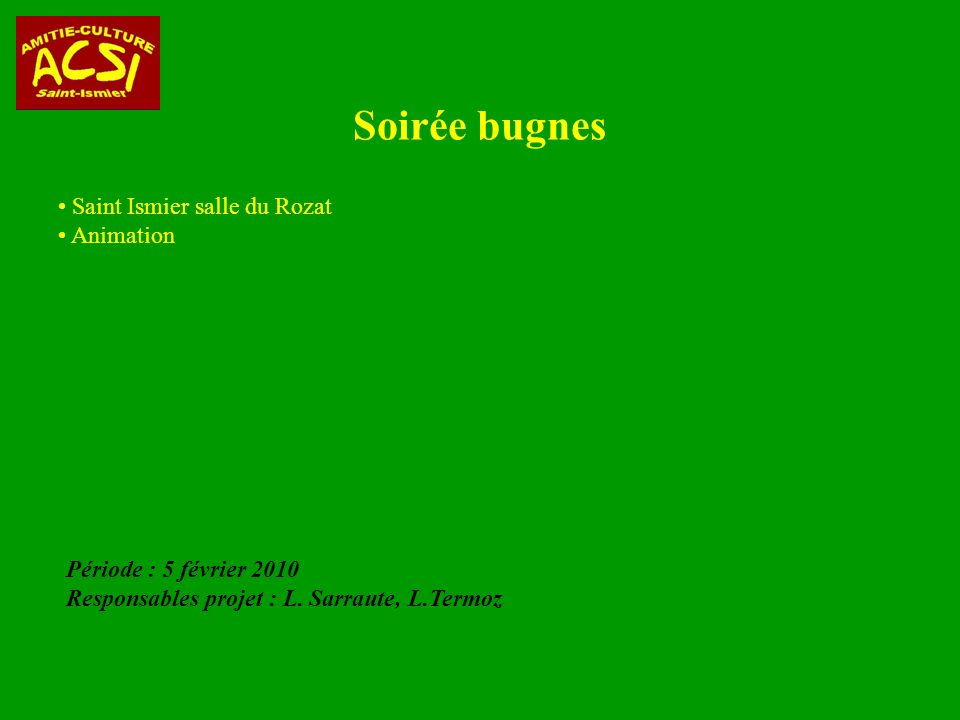 Soirée bugnes Saint Ismier salle du Rozat Animation