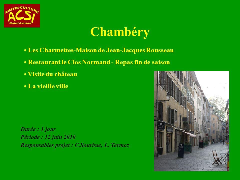 Chambéry Les Charmettes-Maison de Jean-Jacques Rousseau