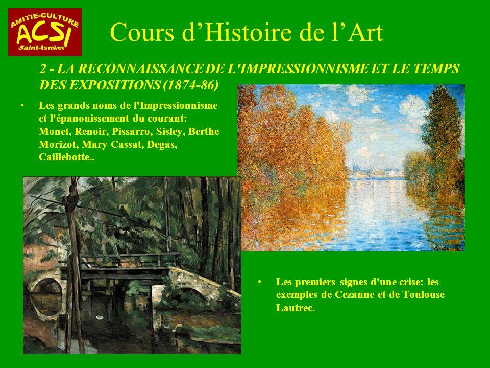 Cours d'Histoire de l'Art