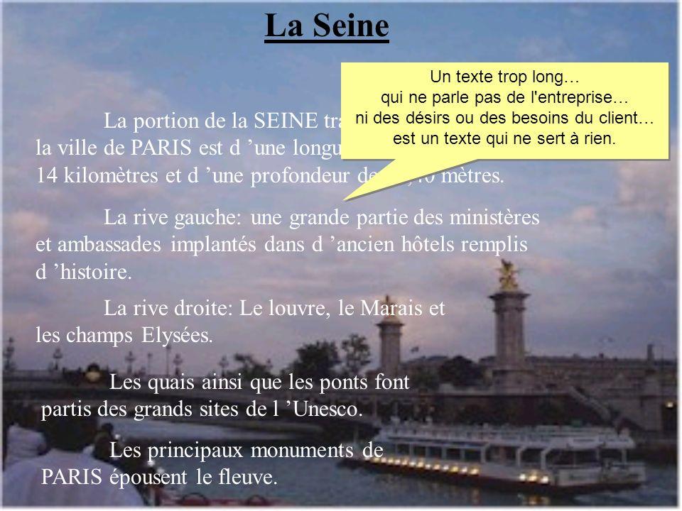 La Seine La portion de la SEINE traversant