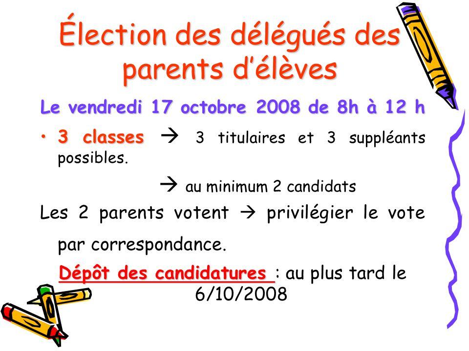 Élection des délégués des parents d'élèves