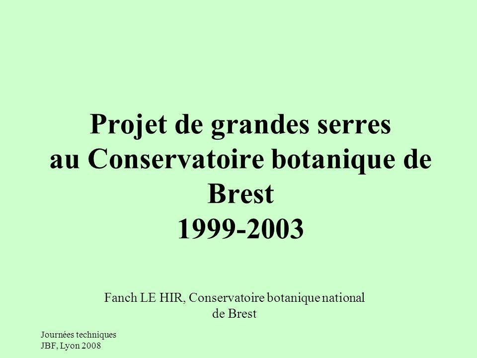 Projet de grandes serres au Conservatoire botanique de Brest 1999-2003