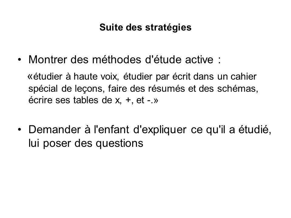 Montrer des méthodes d étude active :